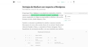 alternativa wordpress medium editor