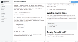 alternativas wordpress ghost editor