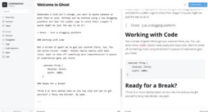 alternativas wordpress ghost editor