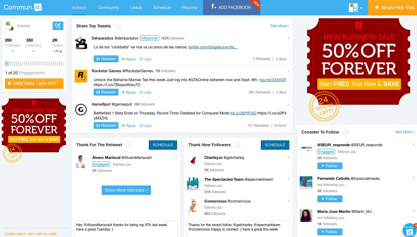 communit herramientas twitter comunidad