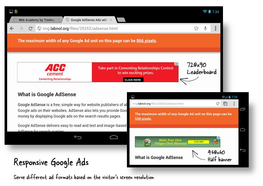 incluir publicidad web adsense